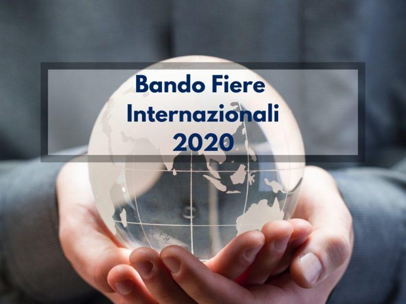 Bando fiere internazionali 2020