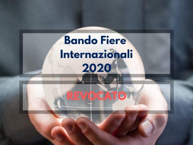 Bando fiere internazionali 2020 - revocato